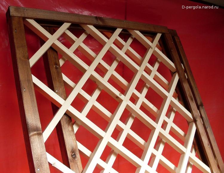 Как сделать деревянную решётку